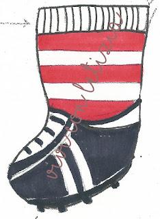 Cartamodello Calze della befana calciatore - footballer christmas stocking