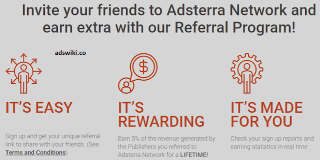 adsterra.com refer and earn program commission