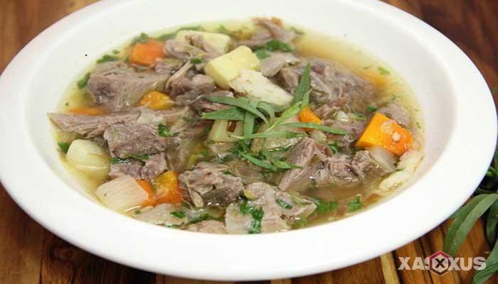 Resep cara membuat sayur sop kambing kuah bening