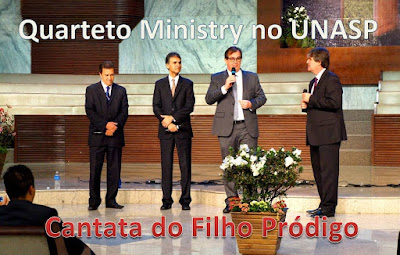 KIT DE ENSAIO QUARTETO MINISTRY CANTATA FILHO PRÓDIGO