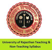 University of Rajasthan Teaching & Non-Teaching Syllabus