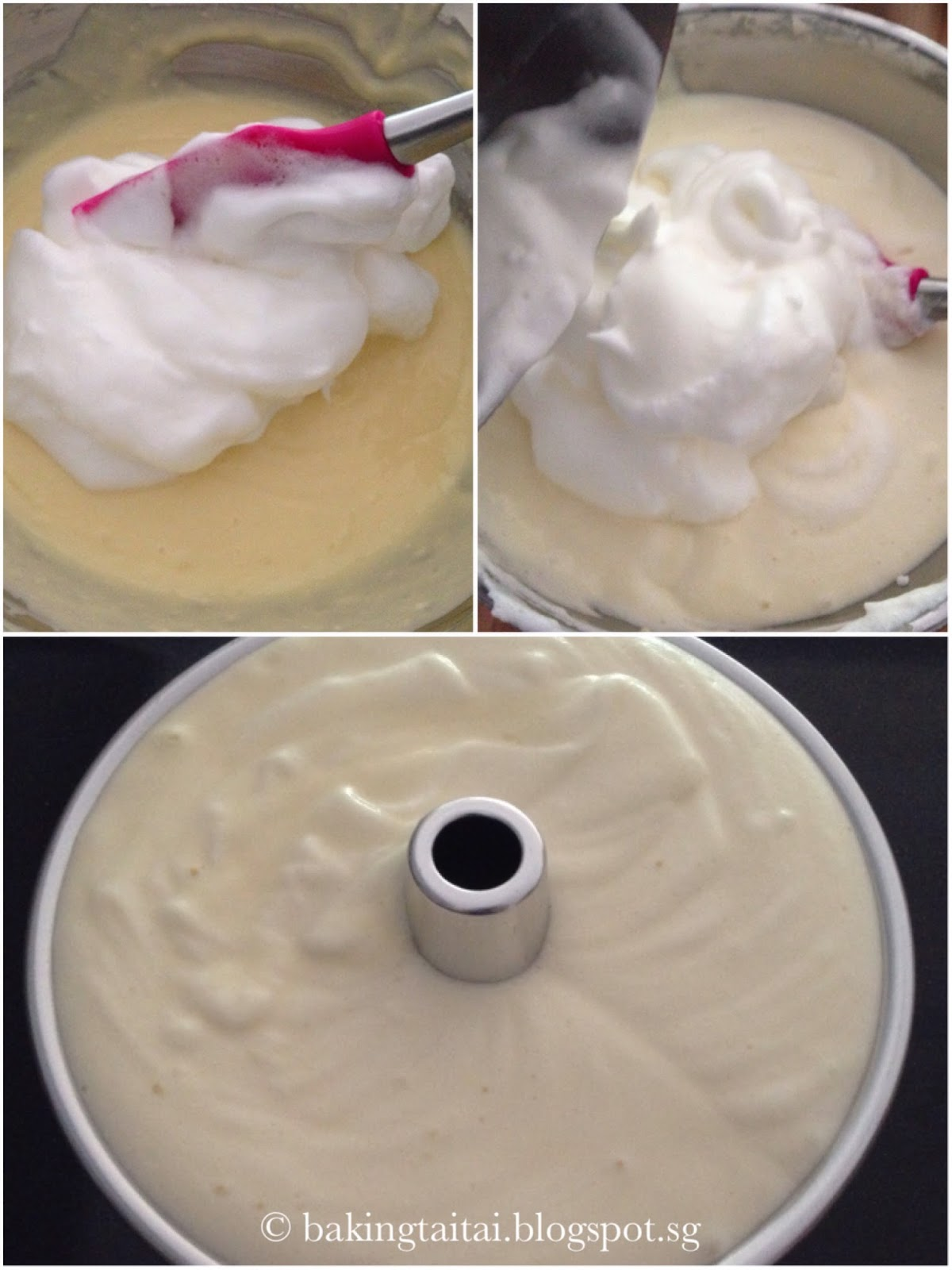 Baking Taitai Japanese Cream Cheese Chiffon Cake Premium Blueberry 20cm 7 Bake In A Pre Heated Oven At 170 Degree Celcius Top Bottom Heat For 50 Minutes Surface Need Not Baked Till Brown Just Insert Skewer Centre And