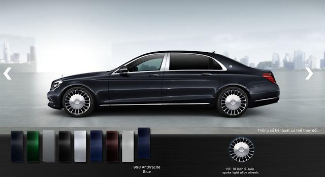 Mercedes Maybach S500 2017 có thiết kế từ ngoại thất và nội thất sang trọng, lịch lãm và quyến rũ