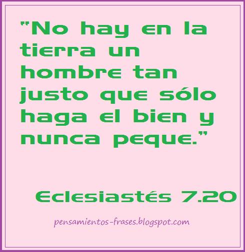 Eclesiastés 7.20