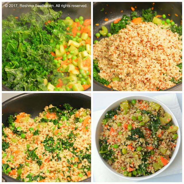 Quinoa kale stir fry
