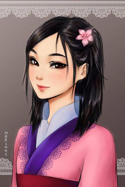 Princesas da Disney em estilo Mangá