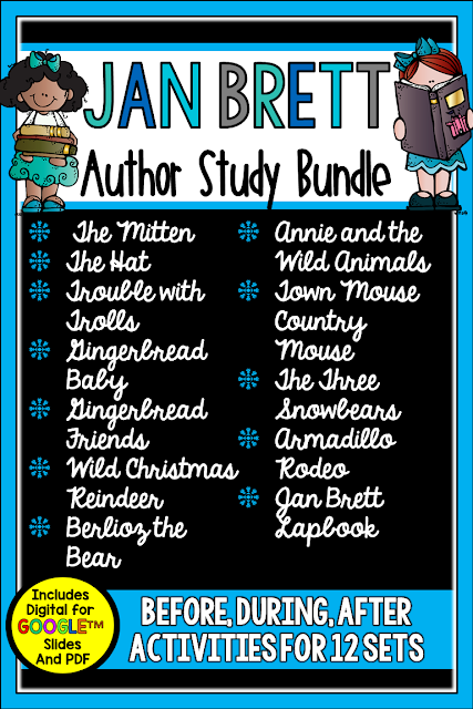 Jan Brett is a favorite author, and this author study bundle will help you and your students celebrate her work all winter and beyond. Check out this post for lesson details.
