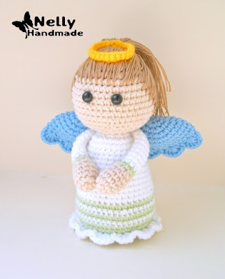Lovely Angel crochet pattern - Amigurumi Today | 400x322