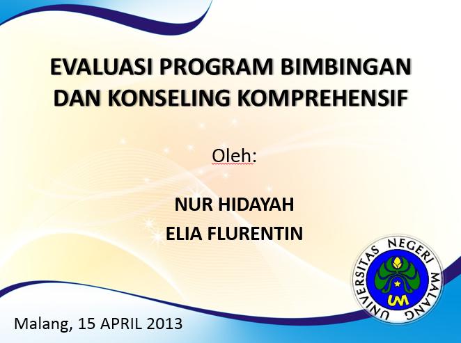 Evaluasi Program Bimbingan dan Konseling Komprehensif