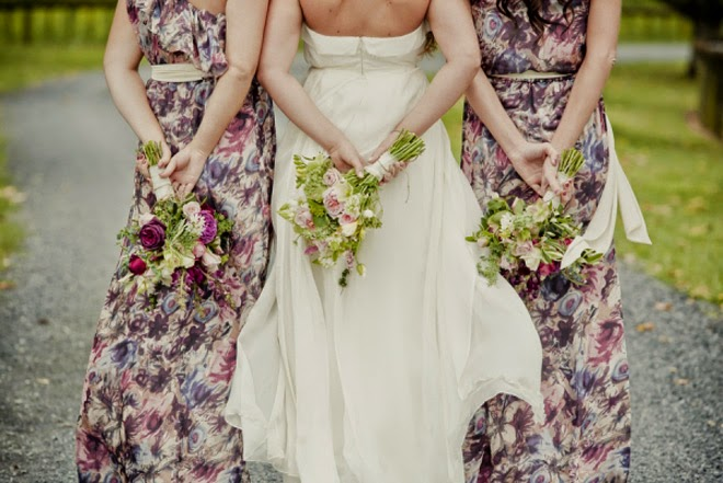 Spring Trend for Wedding Dresses with Floral Prints