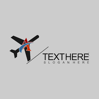Letter A Plane Object Logo Template Free Download Vector CDR, AI, EPS and PNG Formats