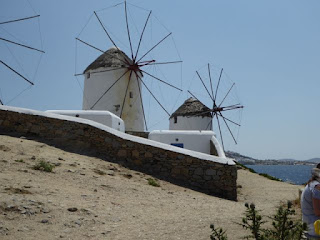 Windmills on Mikonos Greek vacation