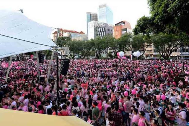 Unjuk Rasa Gay (Manusia Jejadian/LGBT) Digelar di Singapura, WNA Tak Boleh Ikut