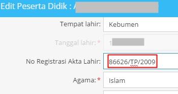 Di mana Letak Nomor Registrasi Akta Kelahiran pada Akta Lahir Terbitan Lama dan Baru Letak Nomor Akta Kelahiran; Cara Mengisi Nomor Registrasi Akta Kelahiran Model Lama dan Baru di Aplikasi Dapodik SD/SMP/SLB/SMA/SMK
