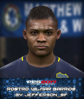 PES 2017 Faces Wílmar Barrios by FaceEditor Jefferson_SF