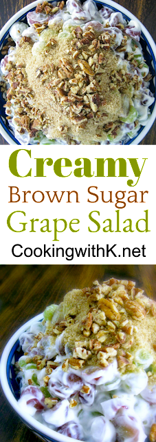 Creamy Brown Sugar Grape Salad