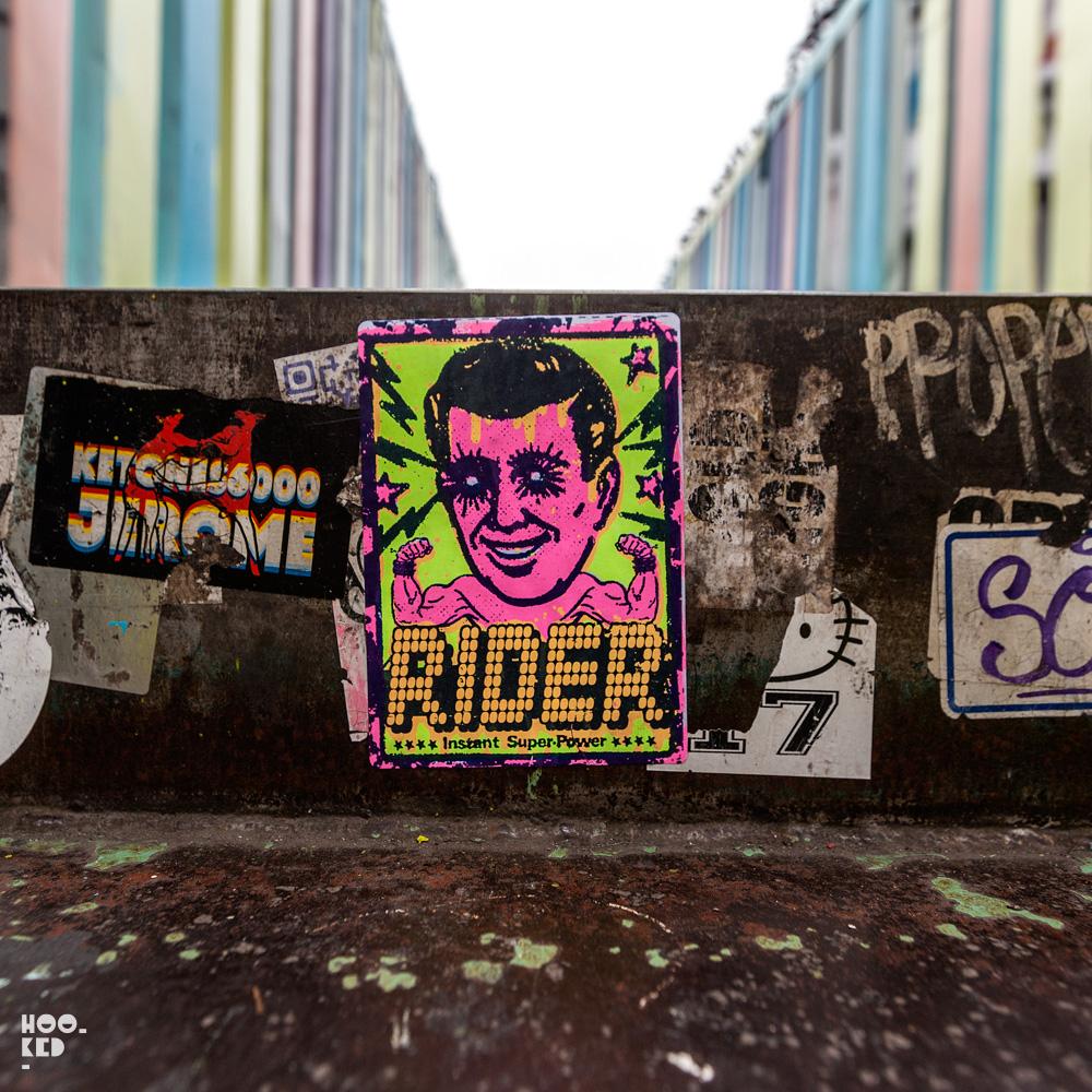 Zombiesqueegee Brick Lane Street Art Paste-ups in London. Photo ©Hookedblog / Mark Rigney