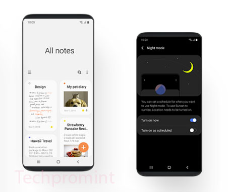 The Great and Poor of Samsung's Brand New One UI interface for Android Pie