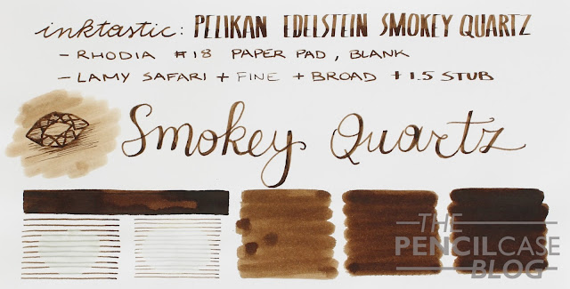 Inktastic: Pelikan Edelstein smokey Quartz ink review