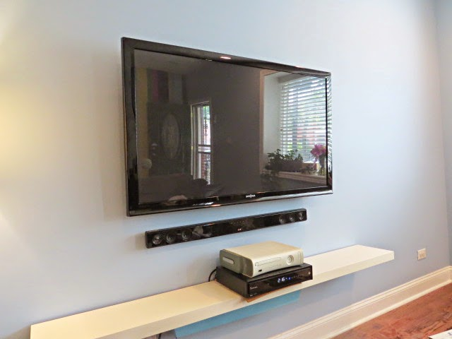 How to hide your television and cable wires, an easy DIY. - Flipping ...