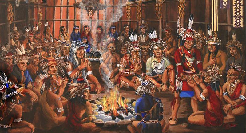Air Terjun NIagara yang merupakan Suku Iroquinos