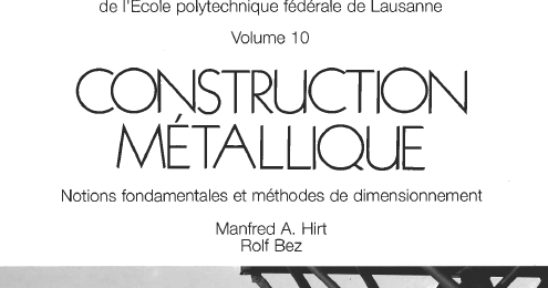 construction m tallique notions fondamentales et m thodes de dimensionnement