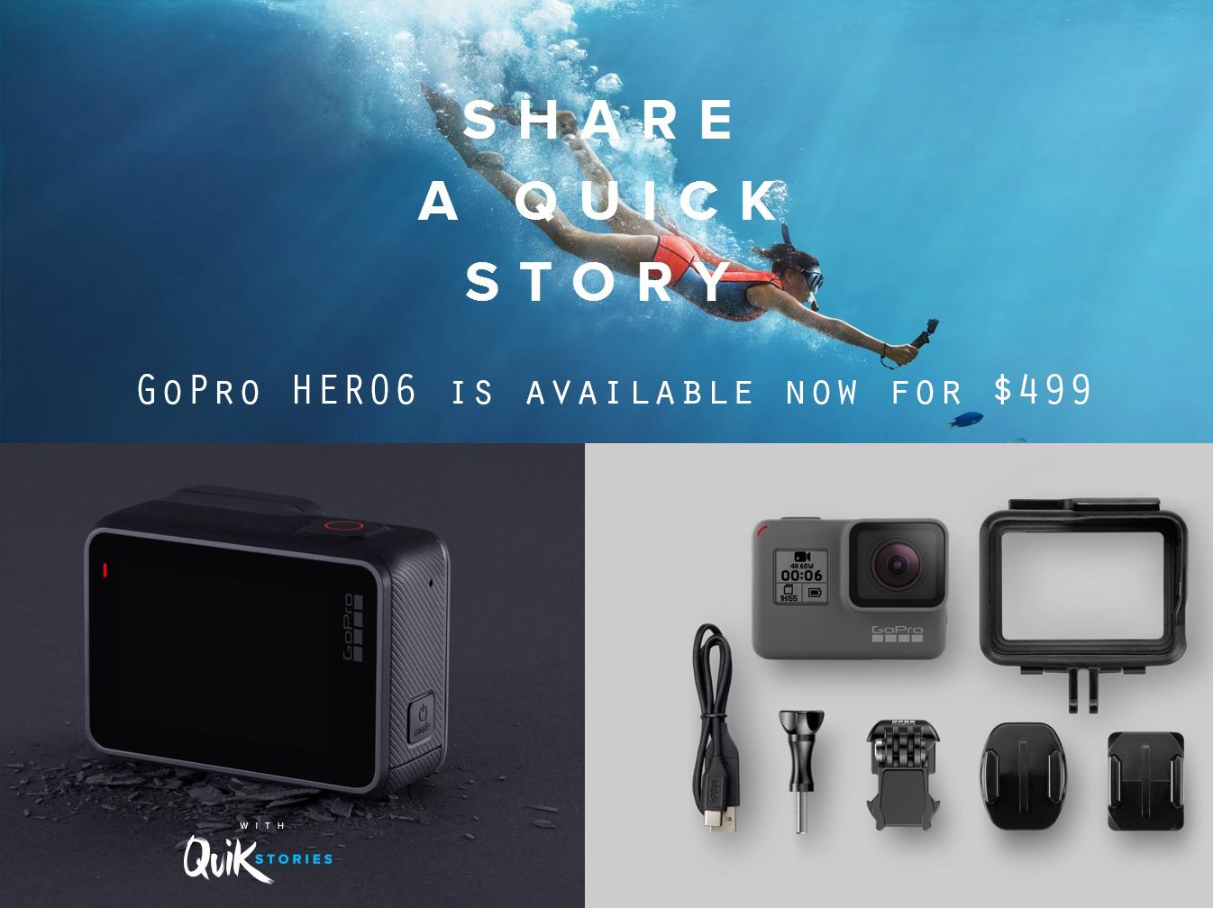 Gopro Hero6 Black Announced Shoots 4k