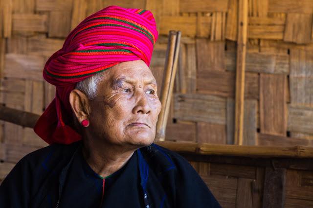Anciana de la tribu Shan, trekking Kalaw-Inle, Myanmar