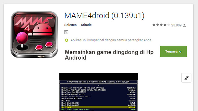 Memainkan Mame4Droid 0.139u1 dingdong di Android - Game ...