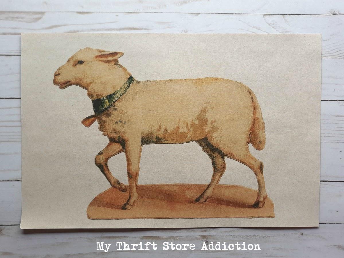 Repurposed placemat reverse canvas art