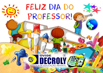 15 de outubro Dia do Professor!