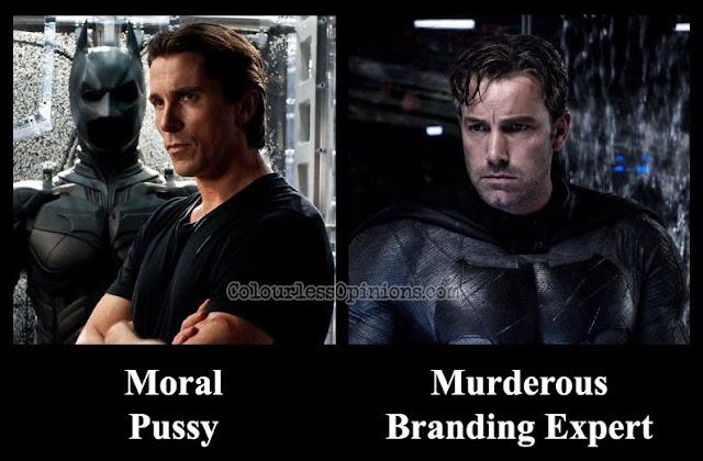 christian bale batman vs. ben affleck batman meme