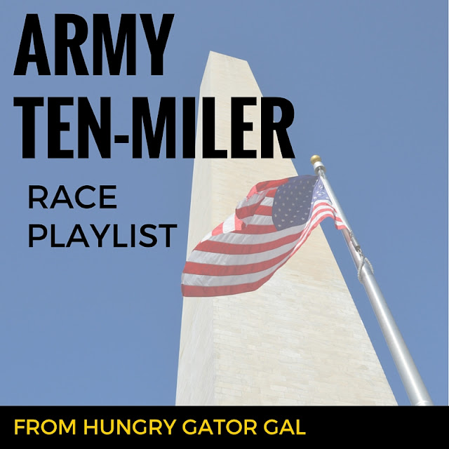 Army Ten-Miler Race Playlist from Hungry Gator Gal