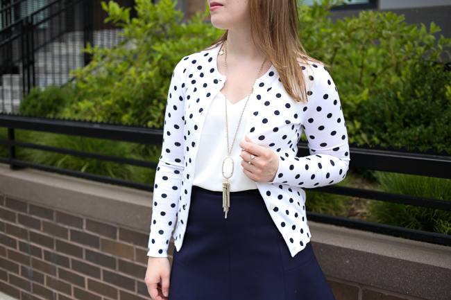 The Polka Dot Cardigan | Something Good, j.crew cotton jackie cardigan sweater in dot