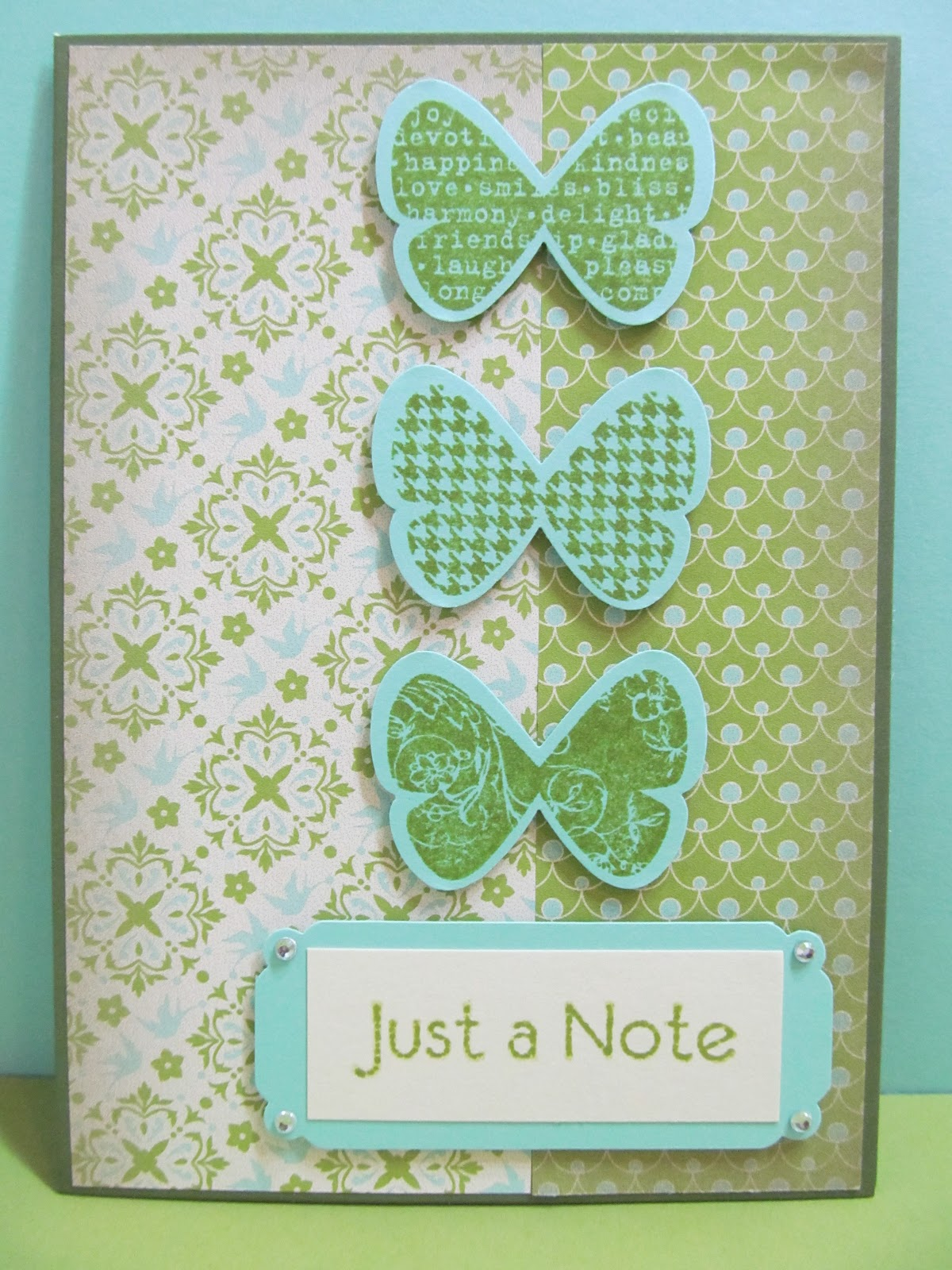 savvy handmade cards butterfly just a note card