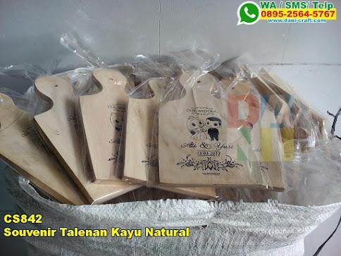 Souvenir Talenan Kayu Natural
