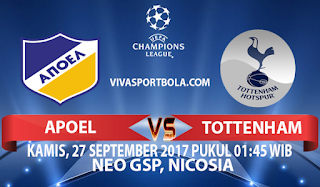 Prediksi APOEL Nicosia vs Tottenham Hotspur 27 September 2017