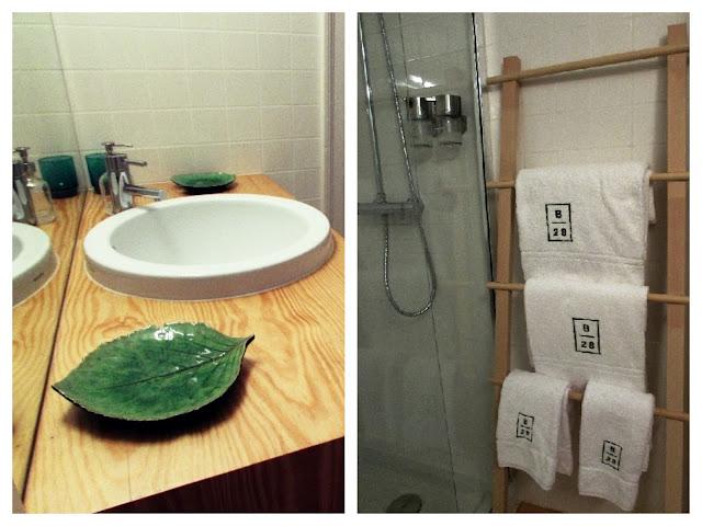 detalhes de uma casa de banho em apartamento turístico