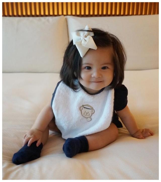 Baby Chanco, model cilik tuah berambut lebat.