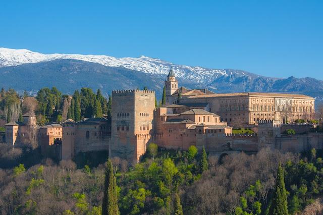 Albaicín, o bairro mouro de Granada, na Andaluzia.