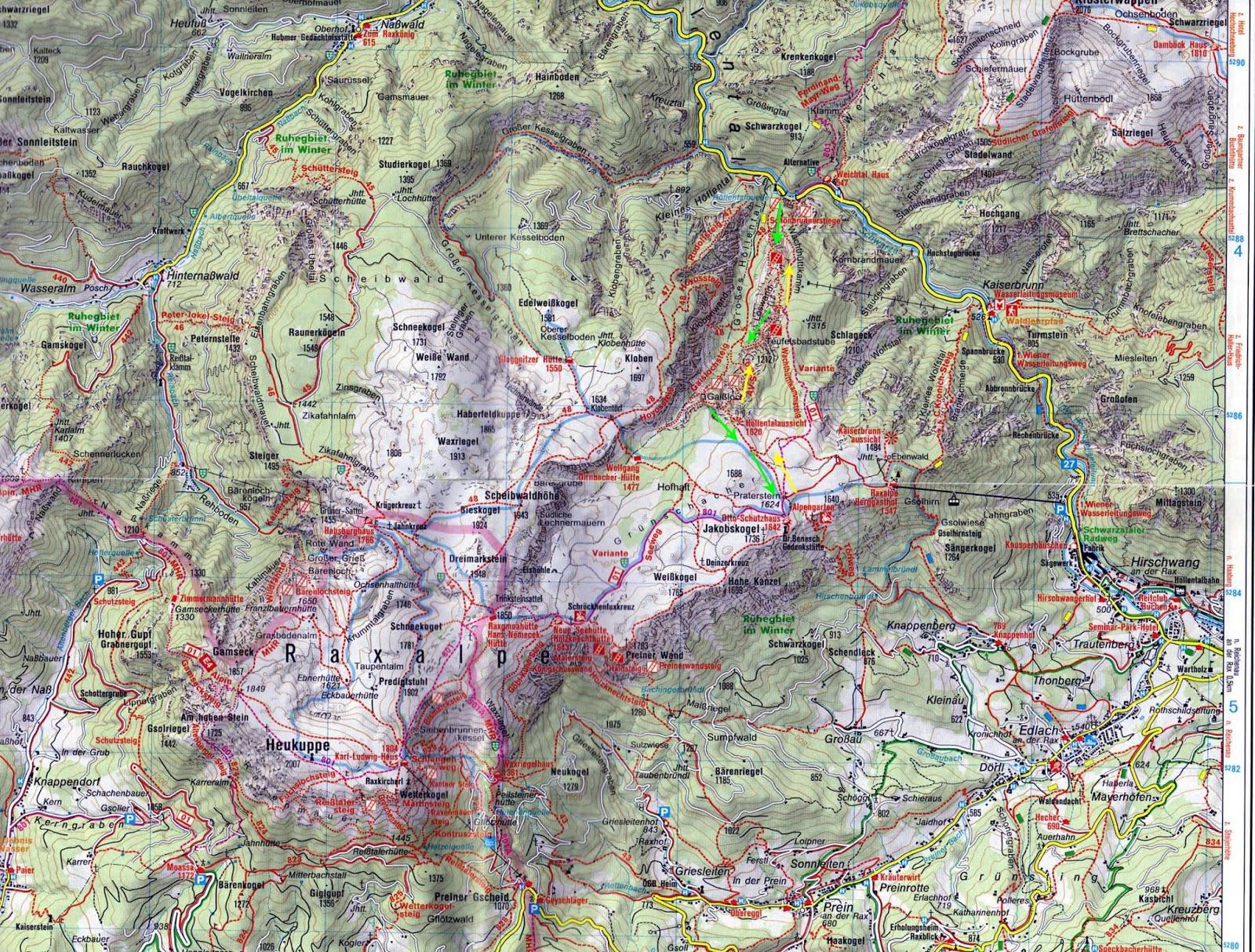 ausztria turista térkép Ausztria Mánia : Rax   népszerű kirándulóhely már több mint 100 éve ausztria turista térkép
