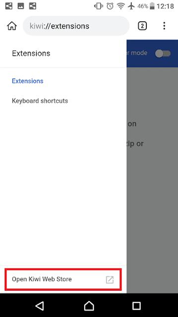 كيفية تثبيت إضافات جوجل كروم على هاتف الاندرويد اضافات كروم على الاندرويد