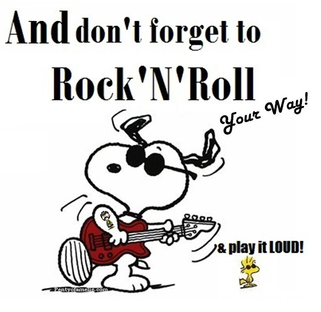 Snoopy and Woodstock LUV Lemmy Ian Fraser Kilmister. Don't forget to R'n'R Your way, and Play it LOUD!