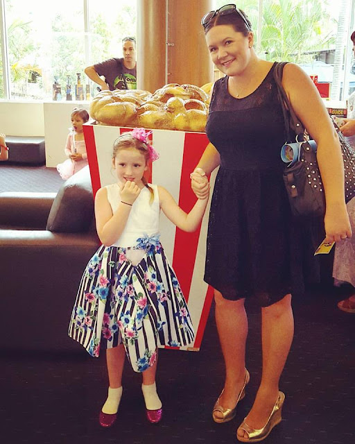 Gold Coast Mum Lauren at the ballet with eldest daughter