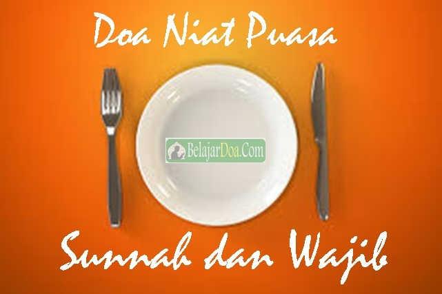 Gambar Doa Niat Puasa Sunnah dan Wajib