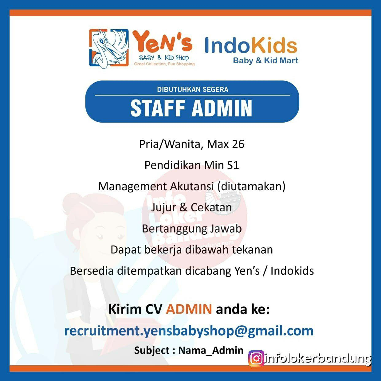 Lowongan Kerja Yens Baby & Kid Shop Group Bandung Februari 2019