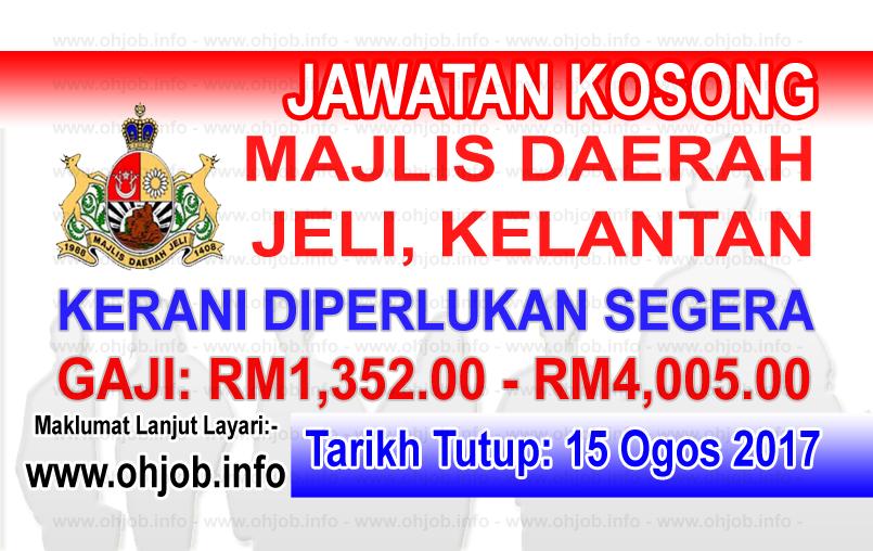 Jawatan Kerja Kosong Majlis Daerah Jeli - MD Jeli log www.ohjob.info ogos 2017