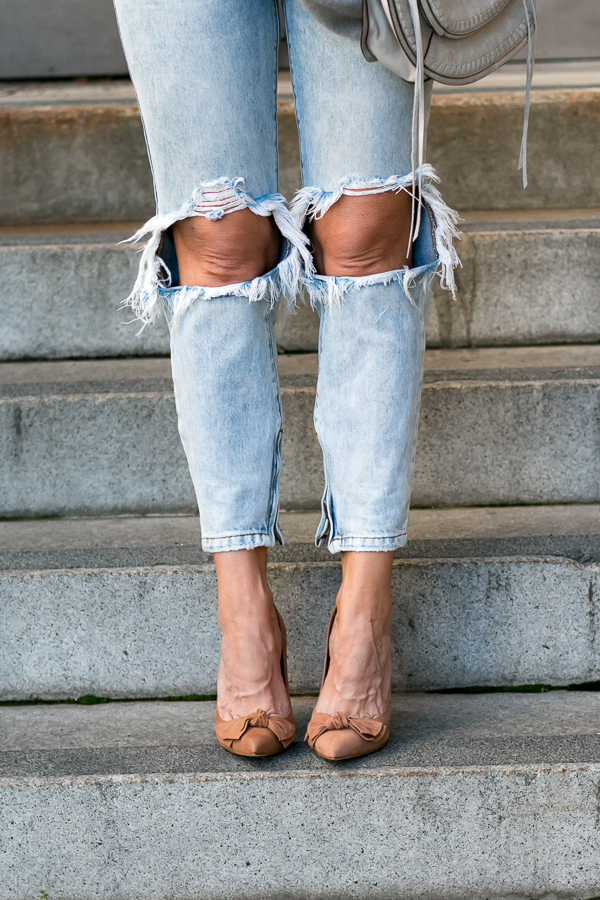 zippers with ripped jeans