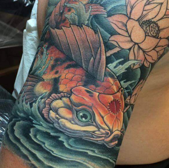 55+ Best Koi Fish Tattoos Designs & Meanings (2019) - TattoosBoyGirl