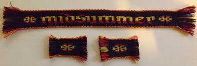A photograph of the Midsummer prize tablet woven bands